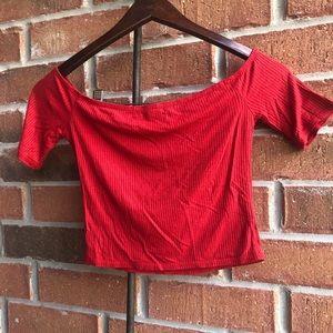 UrbanPlanet Red off the shoulder top